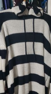 Hooded American eagle knitted sweater